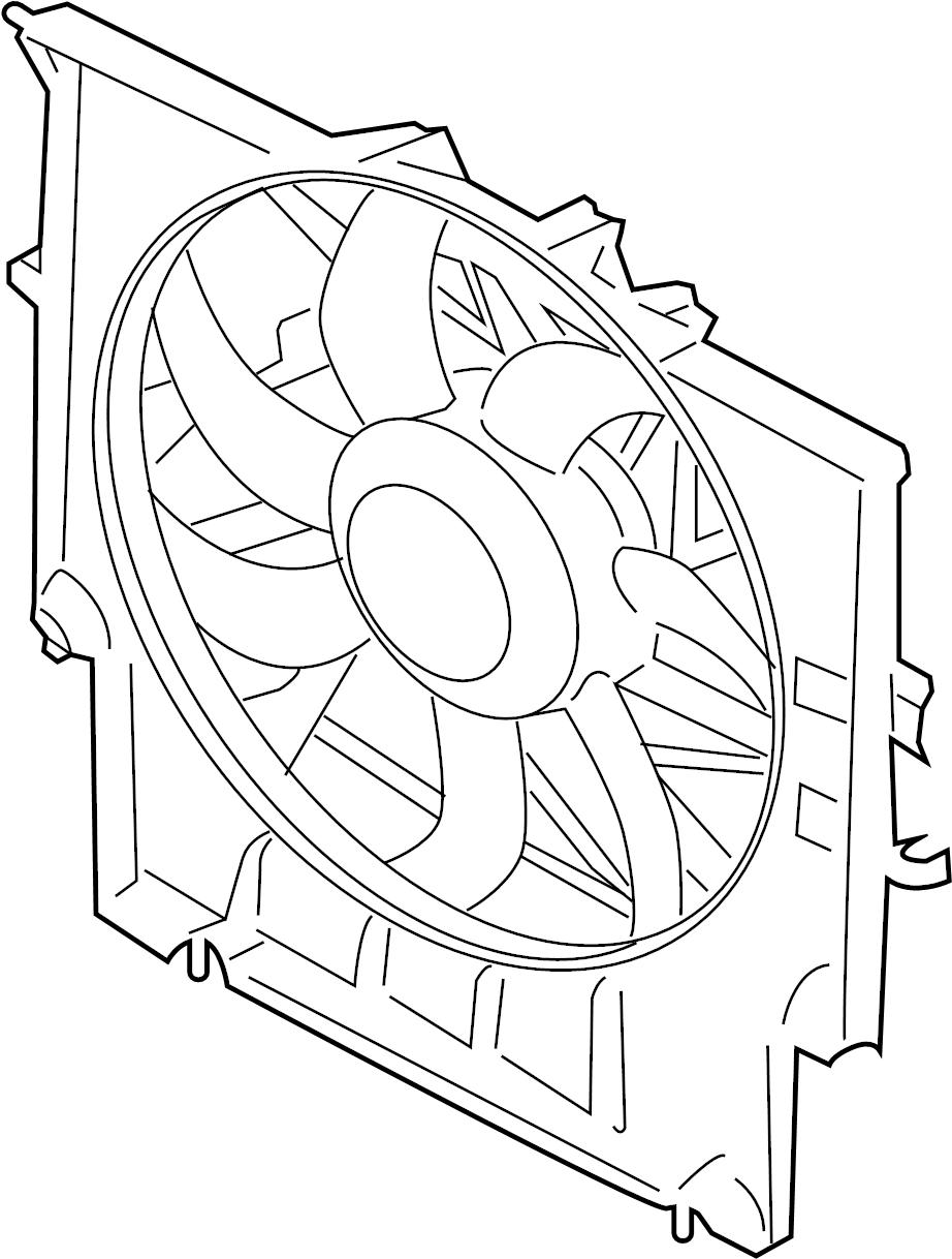 BMW 335i Engine Cooling Fan Assembly