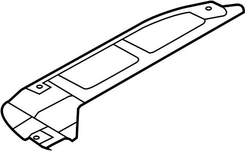 Hyundai Elantra Radiator Support Splash Shield (Right