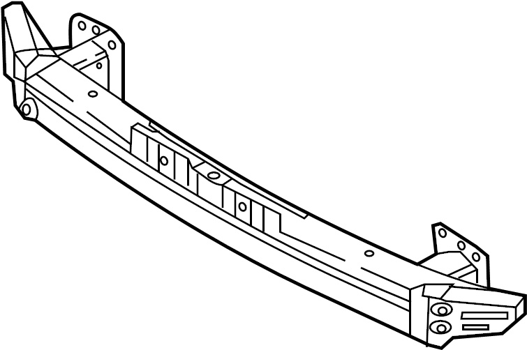 Kia Forte Bumper Impact Bar (Front). HATCHBACK