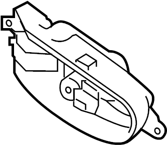 Nissan Pathfinder Handle. Door. Interior. (Left). Lock