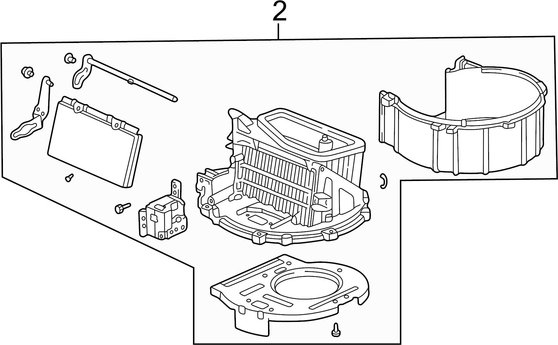 Honda Civic Hvac air inlet door actuator. Built, motor