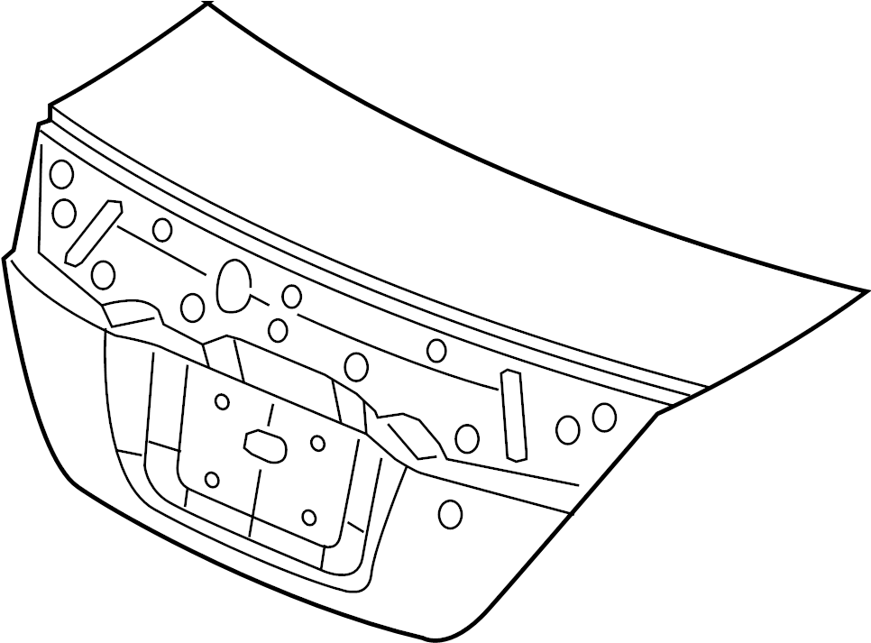 2013 Honda Civic Deck Lid. COUPE, Si. Trunk
