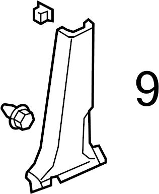 Honda Pilot Trim. Pillar. Clip. Quarter. Retainer. (Front