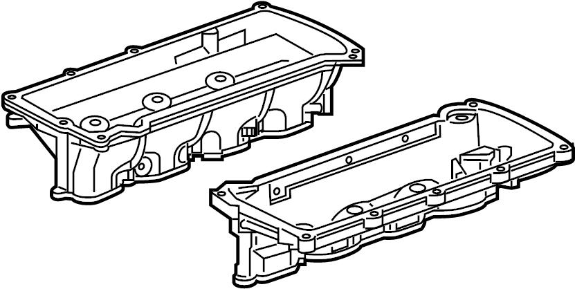 2010 Jaguar XF Gasket. Manifold. Left, Lower