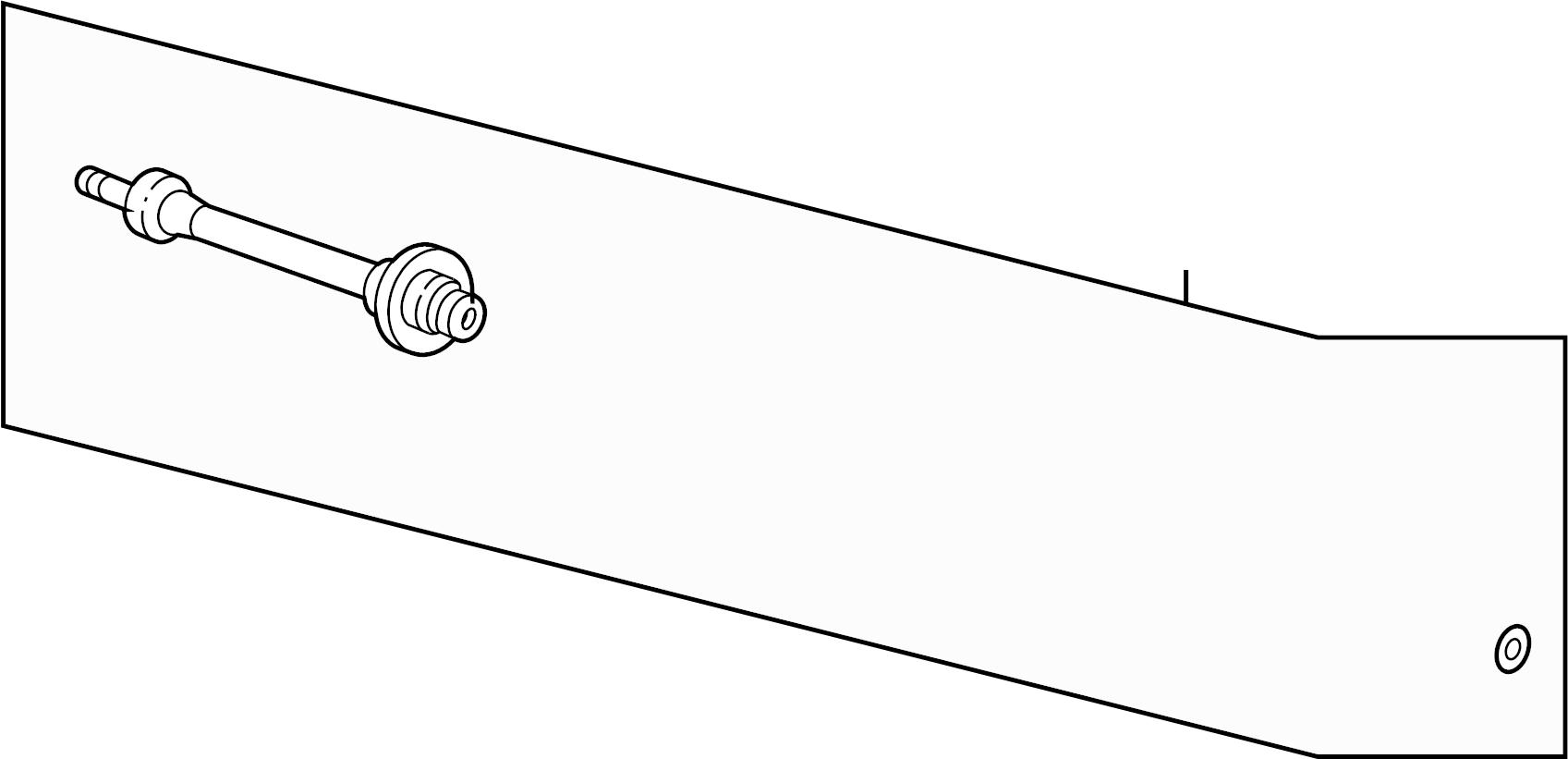 Honda CR-V Cv intermediate shaft. Trans, auto, front