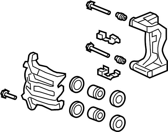 Honda CR-V Disc Brake Caliper. SUSPENSION, Built, Brakes