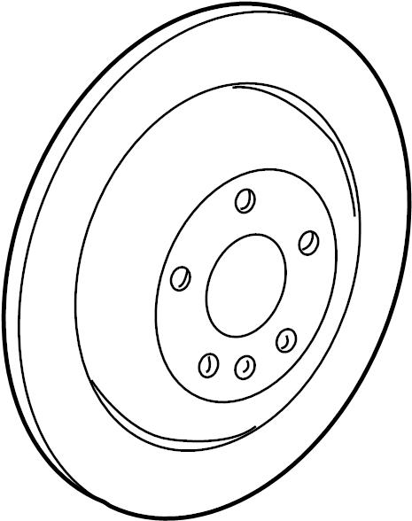 Mercedes-Benz R350 Brake disc. Disc brake rotor. A single