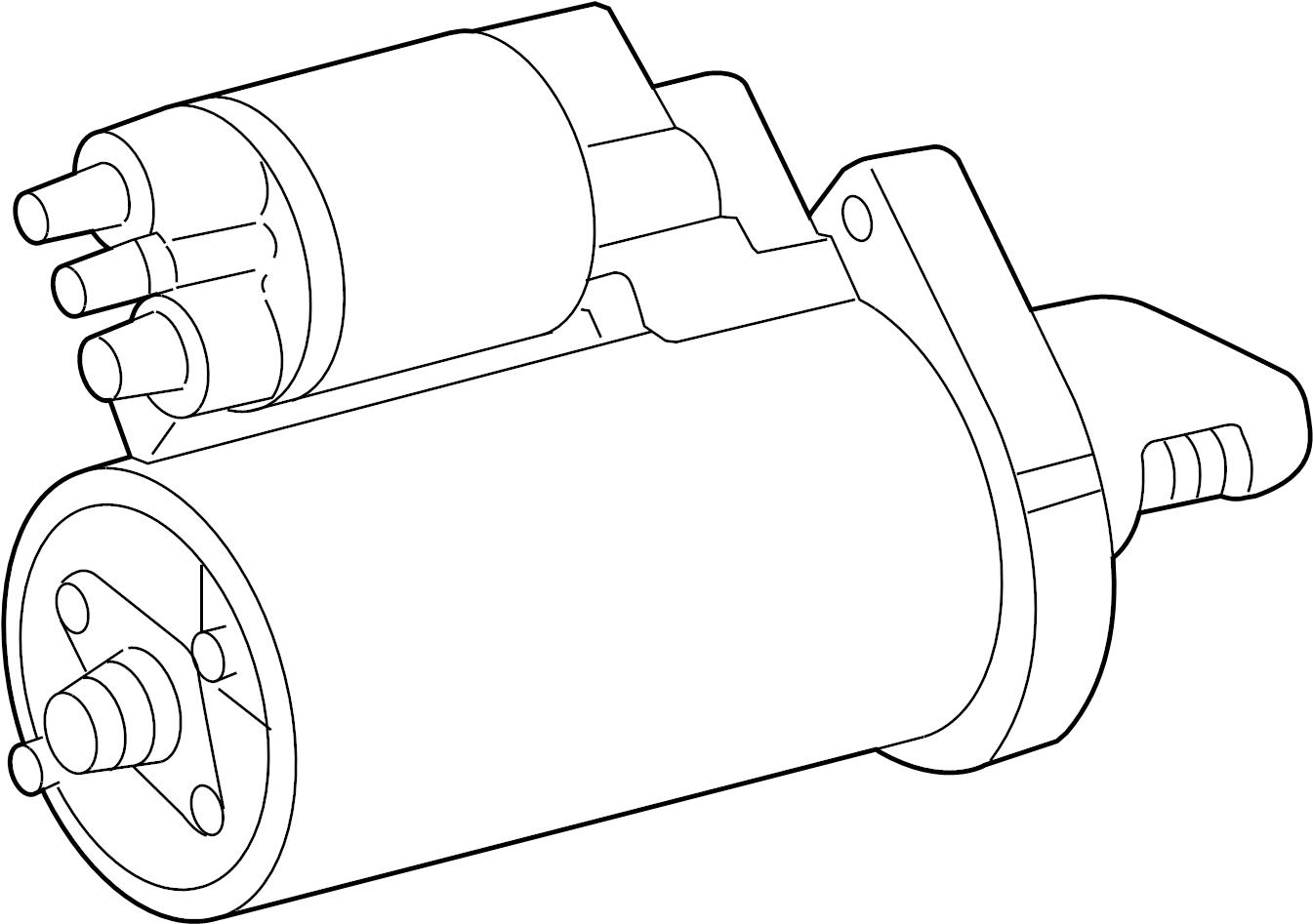Mercedes-Benz GL320 Starter motor. Starting motor. From 03