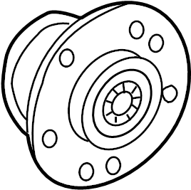 Mercedes-Benz E63 AMG Wheel Bearing and Hub Assembly