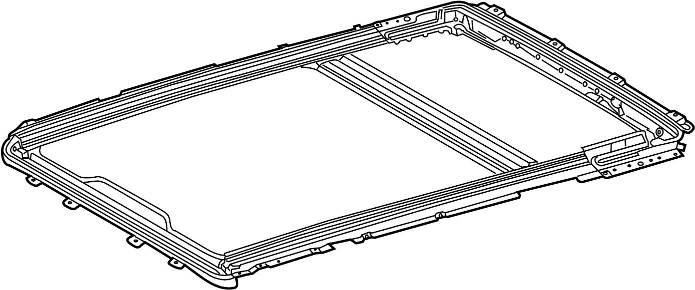Mercedes-Benz ML430 Sunroof Frame. Center. Front