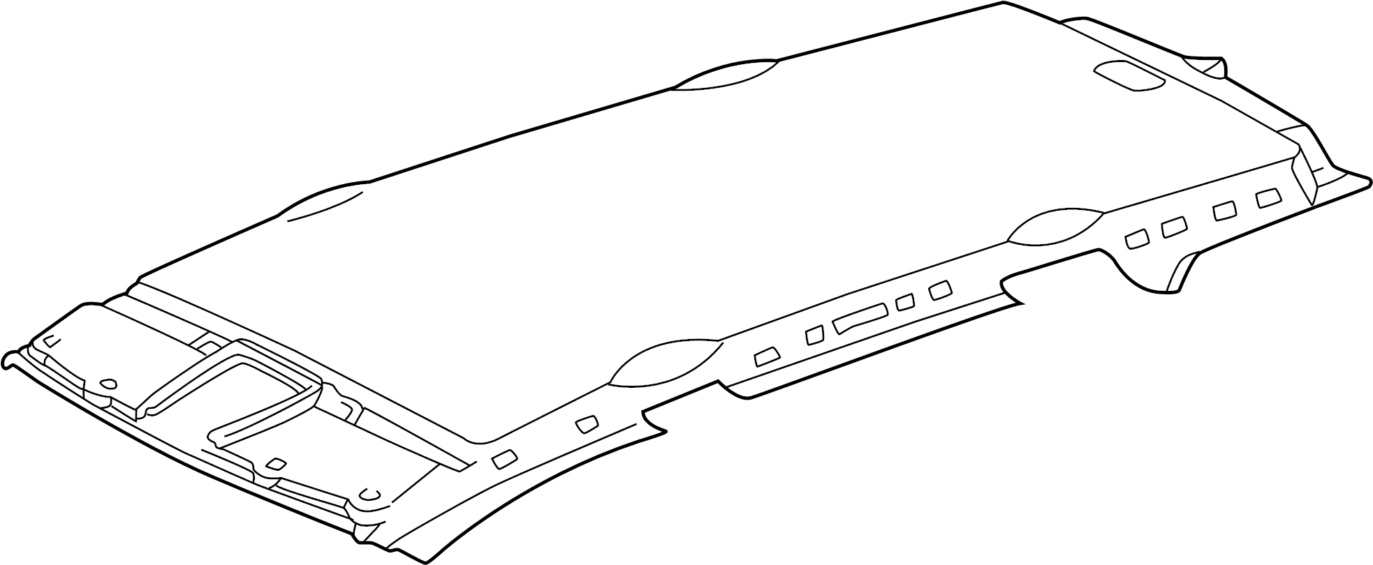 Mercedes-Benz ML430 Front panel. Headliner. PAD. W/o
