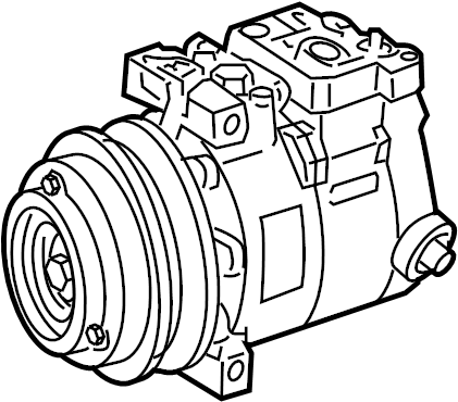Mercedes-Benz ML550 Air conditioning (a/c) compressor. Exc