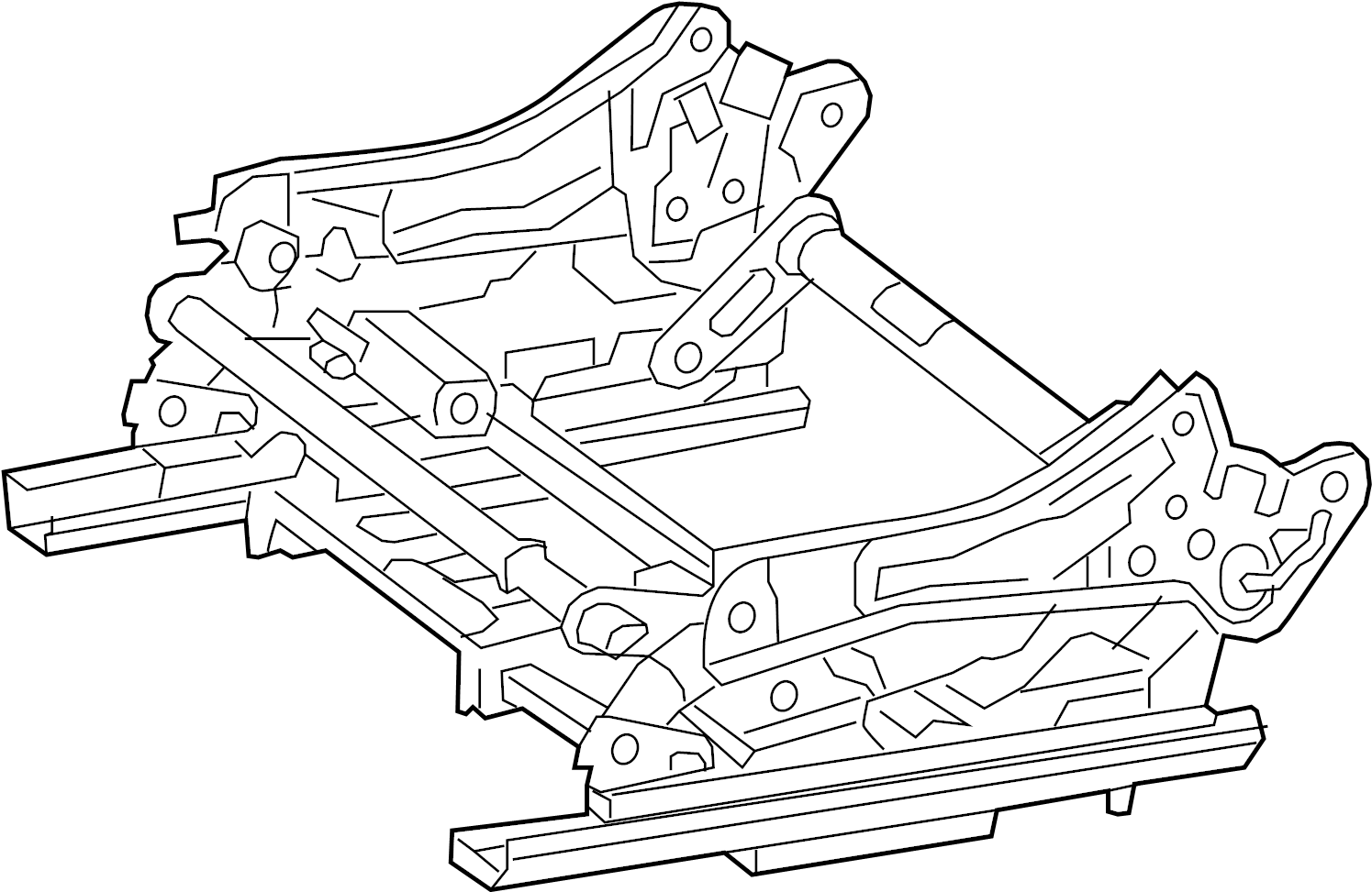 Mercedes-Benz ML63 AMG Seat Track. M-Class; Right; w/o
