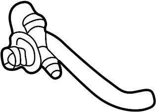 Mercedes-Benz CLK55 AMG Hvac heater hose. Inlet