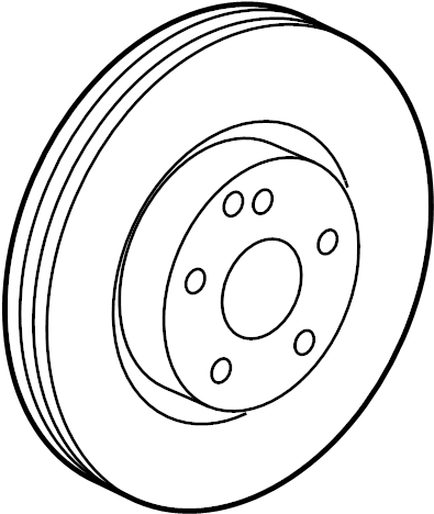 Mercedes-Benz S600 Brake Disk, VentED. Make, Replace