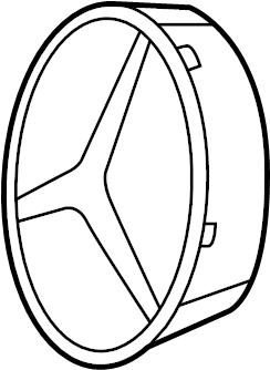 Mercedes-Benz E550 Grille Emblem Bracket. Support, FRONT