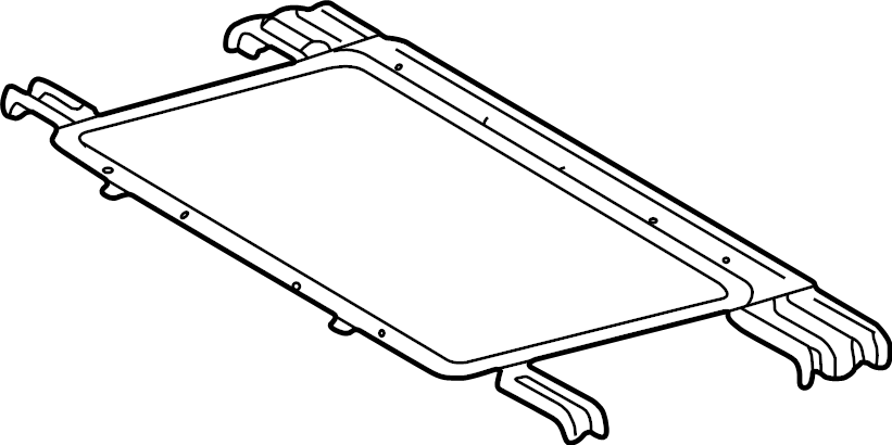 Mercedes-Benz G550 Sliding roof frame. Sunroof frame