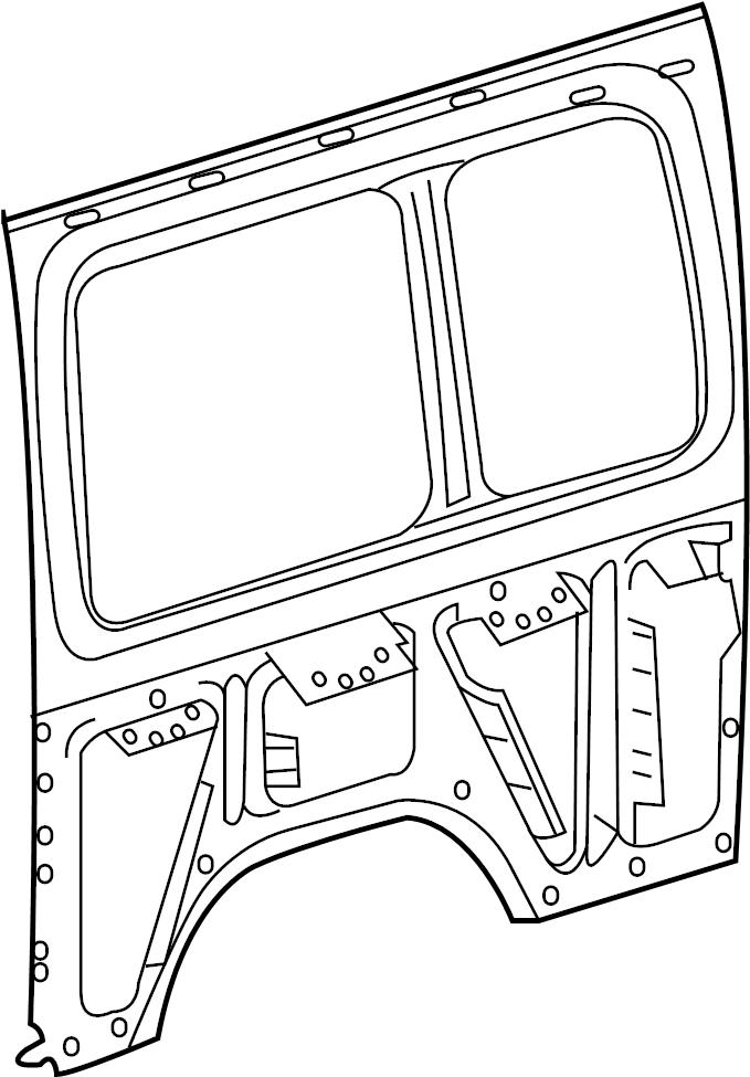 Mercedes-Benz Sprinter 2500 Quarter Panel (Rear). DRIVER