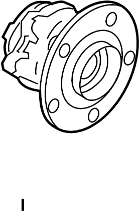 Mitsubishi Outlander Sport Wheel Bearing and Hub Assembly (Rear). SUSPENSION, Right, Left