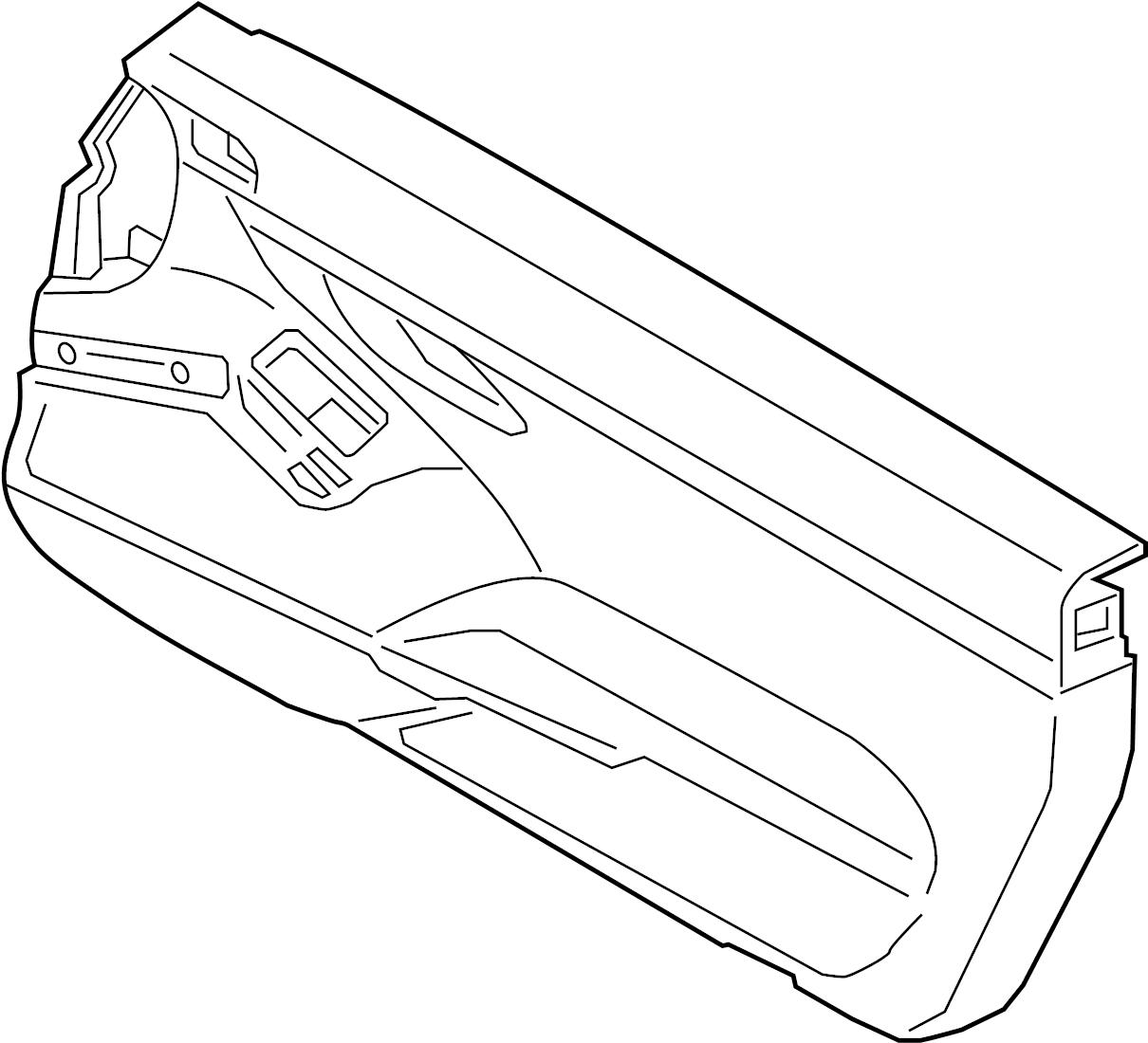 Porsche 718 Cayman Basic Module Door Interior Trim Panel
