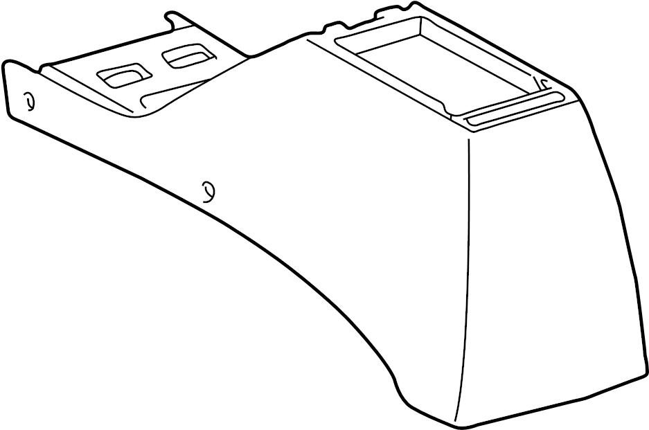 Toyota Tacoma Center Console (Rear). Oak, Moon, Mist