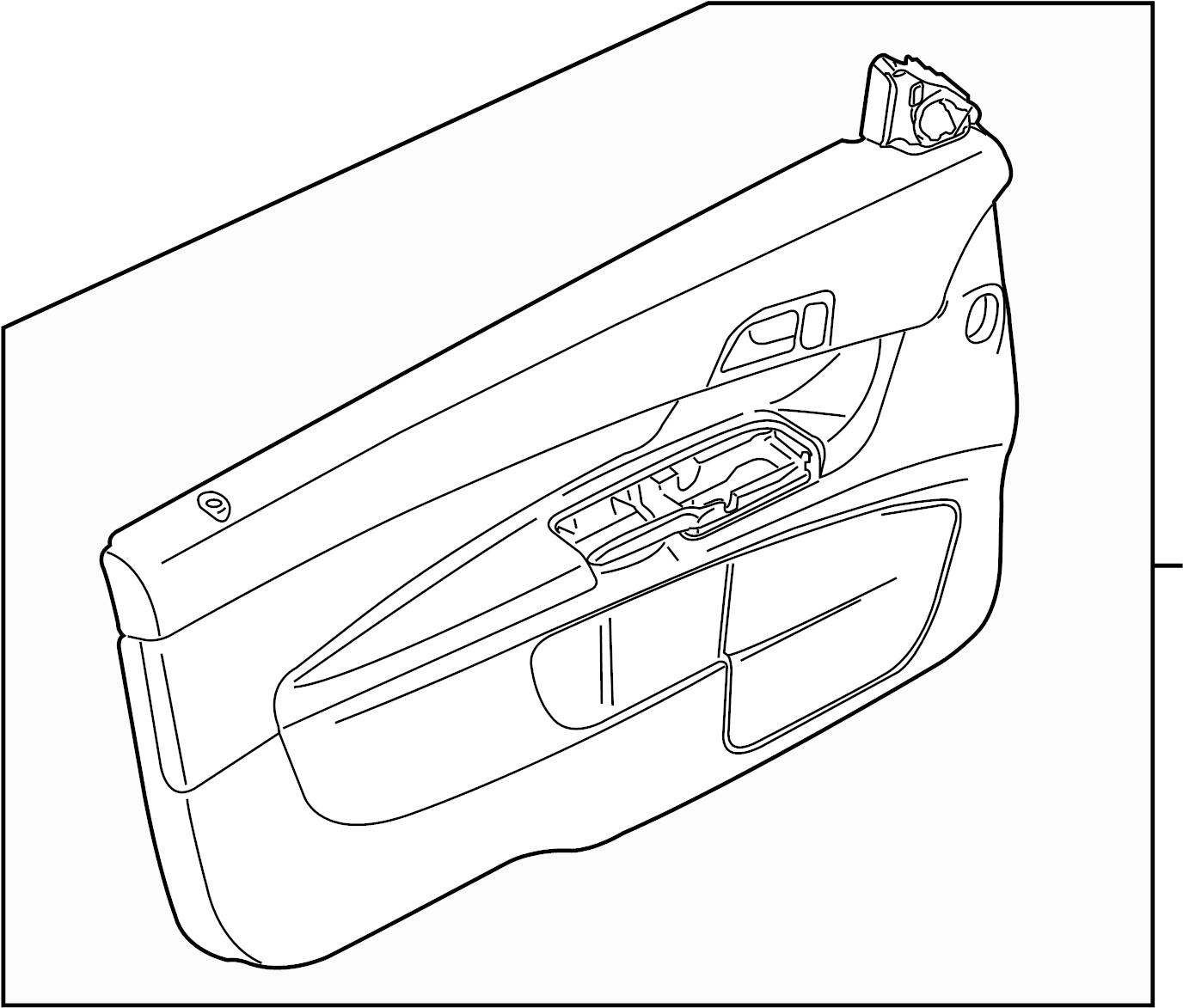 Volvo C30 Door Interior Trim Panel Cloth W O T Tec