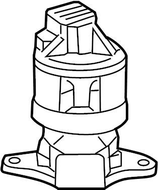 2010 Cadillac DTS Egr valve. Valve assembly, egr. Liter