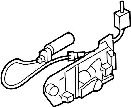 2005 Chevrolet Uplander Shift Interlock Solenoid. Column
