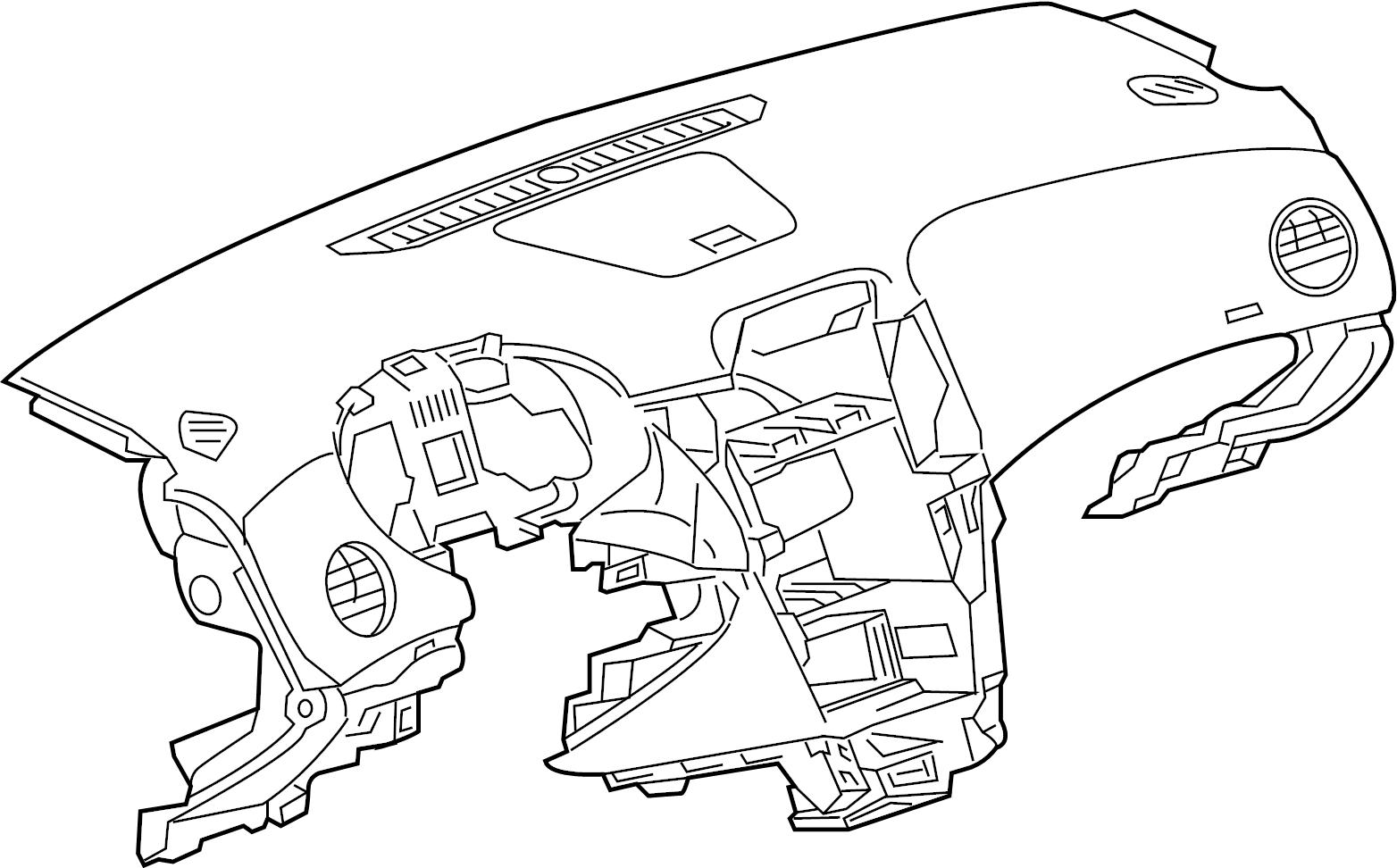 Chevrolet Cruze Dashboard Panel. Instrument panel. Panels