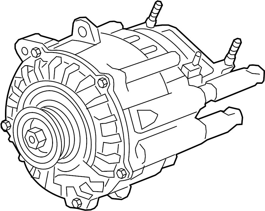 2012 Buick Regal Alternator. Hybrid Starter Generator