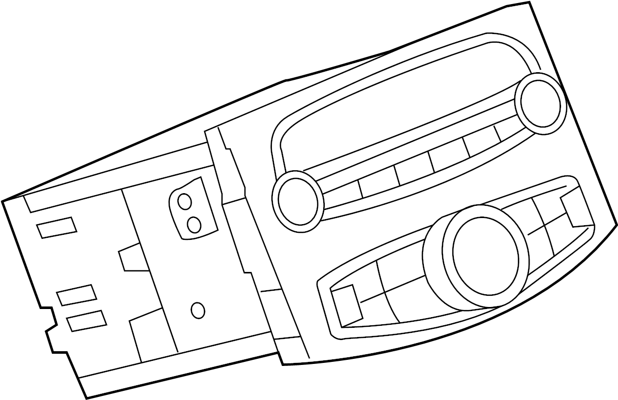 2014 Chevrolet Spark EV Radio Control Unit. W/EV