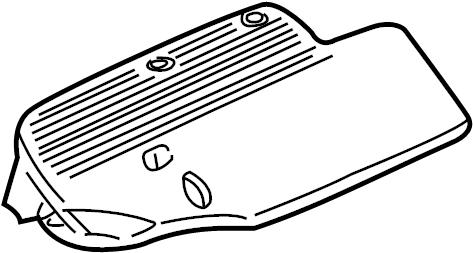 1998 Chevrolet S10 Seal. Air. Resonator. Engine. Intake