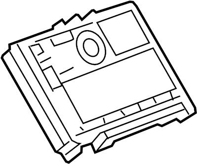 GMC Sierra 1500 Module. RADIO, CODE: IO3, IO4, IO5, IO6