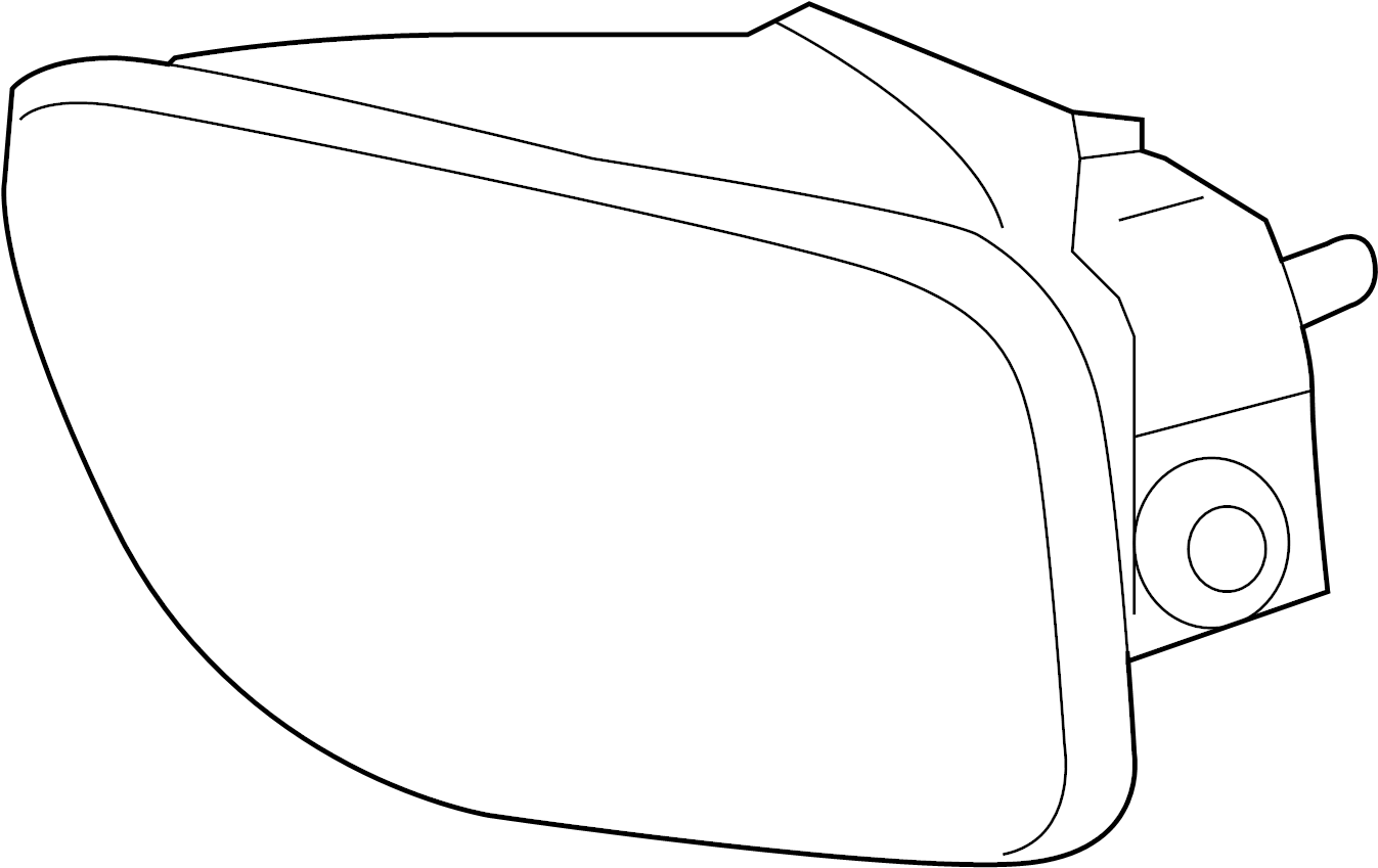Chevrolet Trailblazer EXT Fog Light (Front). Right, LAMPS