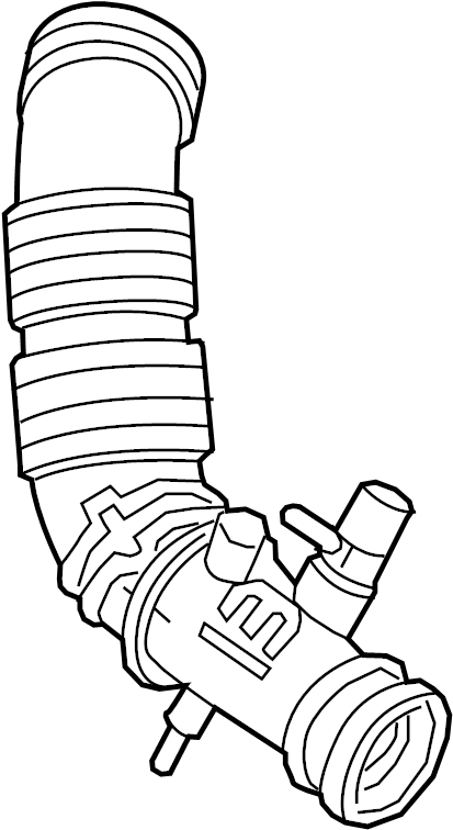 Isuzu Trooper Engine Air Intake Hose. 3.2 LITER, 1992-95