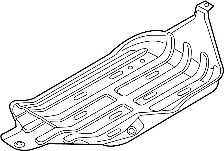 Isuzu Rodeo Fuel Tank Skid Plate. 2.2 LITER. 3.2, 3.5