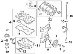 2017 Hyundai Santa Fe Sport Engine Intake Manifold
