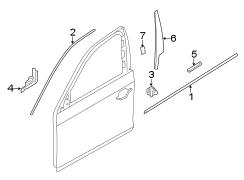 BMW 535i Channel cover, exterior, do. Door Belt Molding