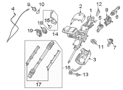 2007 BMW Z4 Steering Column. W/steptronic. Z4; 2.5L, 3.0L