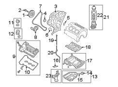Kia Sorento Engine Oil Filter Housing. 3.3 LITER. 3.3