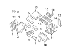 Nissan Pathfinder Fuse Box Cover (Left, Upper, Lower