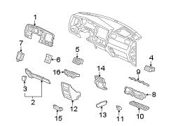 2011 Honda Ridgeline Instrument Panel Pocket. Dark, Gray