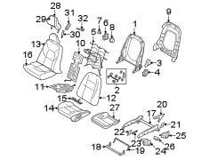 Volvo S80 Seat Back Recliner Adjustment Handle. MANUAL