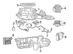 2001 Dodge Durango Blend air. Hvac blend door actuator