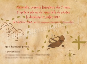Invitation anniversaire Pirate2