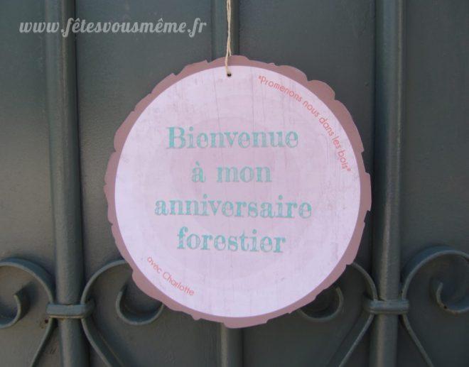 Décoration Thème Forêt - Pancarte Porte Foret - Fêtes vous même