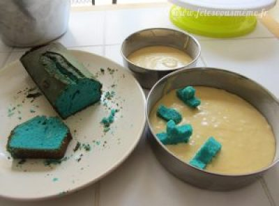 Gâteau anniversaire marin caché - Fêtes vous même