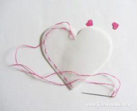 Pochette coeur à confettis coûture - Fêtes vous même
