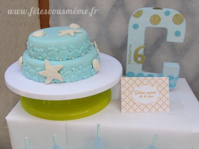 Table gourmande monde de la mer - Gâteau anniversaire marin - Fêtes vous même