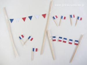 Guirlande de drapeaux tricolores final - Fêtes vous même